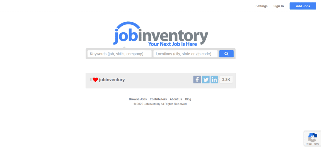 jobinventory free job posting sites