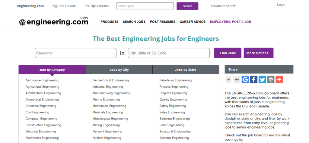 engineering.com free job posting sites