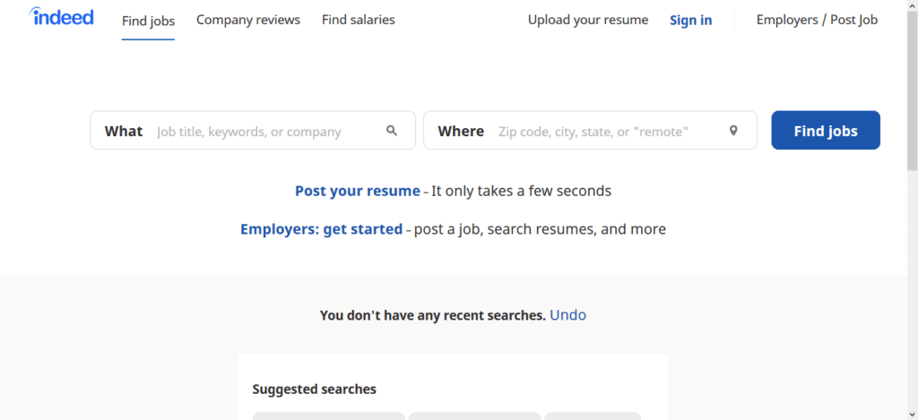 indeed free job posting sites