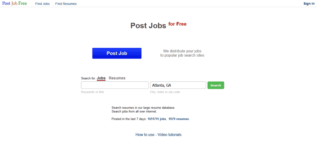 post job free posting site