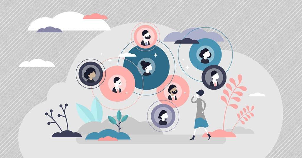 connected relationships illustration